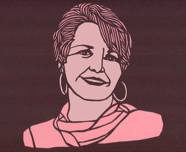 Marilyn Buck papercut